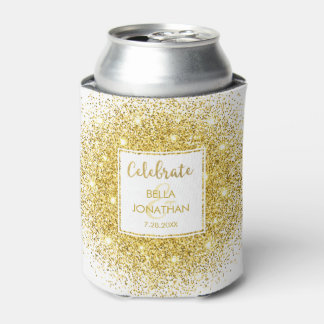 Porta-lata Costume Glam do brilho do ouro elegante simples do