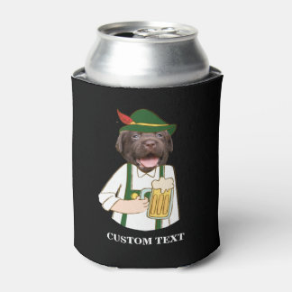 Porta-lata Costume preto engraçado do amante da cerveja do