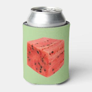 Porta-lata Cubo vermelho doce fresco original da comida da