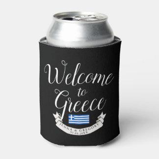 Porta-lata Dê boas-vindas ao costume do casamento do destino
