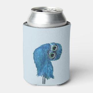Porta-lata Decoração Burrowing azul e verde da coruja