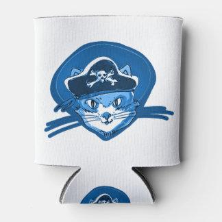 Porta-lata desenhos animados azuis do matiz do gatinho doce