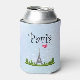 Porta-lata Design francês - torre Eiffel em Paris