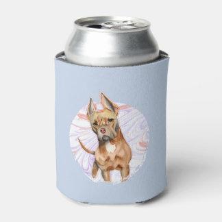 """Porta-lata Do """"orelhas coelho"""" pintura da aguarela do cão de"""