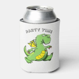 Porta-lata Dragão verde dos desenhos animados que anda em