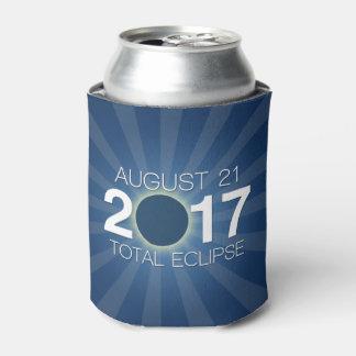 Porta-lata Eclipse solar total 2017 - design azul