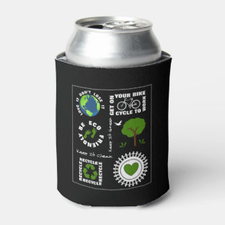 Porta-lata Eco amigável vai terra verde do planeta do amor