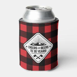 Porta-lata Elogios e cervejas a 30 anos de xadrez vermelha do