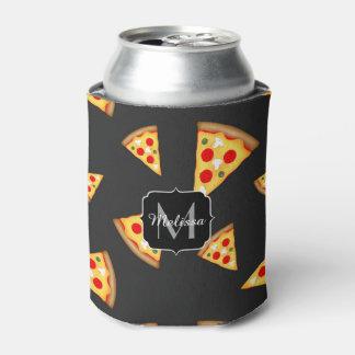 Porta-lata Esfrie e a pizza do divertimento corta o monograma