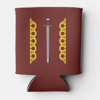 Porta-lata Espada normanda e bandas decorativas