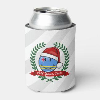 Porta-lata Estilo alegre do Natal da bandeira de Aruba