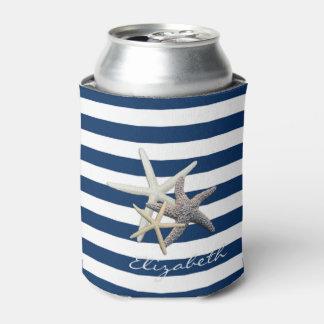 Porta-lata Estrela do mar adorável, azul marinho