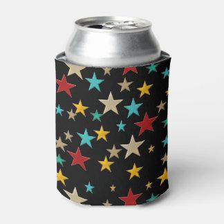 Porta-lata Estrelas engraçadas, coloridas