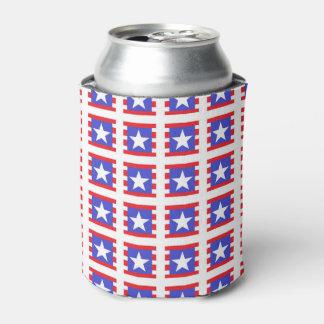 Porta-lata Estrelas, listras e quadrados patrióticos