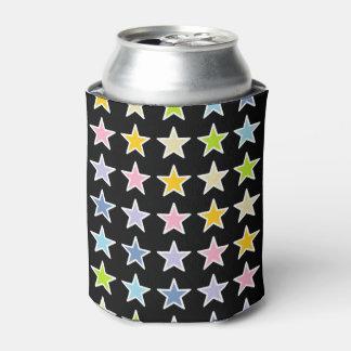 Porta-lata Estrelas Pastel esboçadas branco do arco-íris