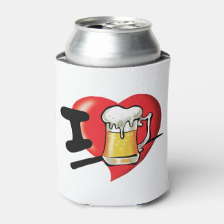 Porta-lata Eu amo a cerveja