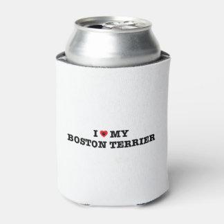 Porta-lata Eu coração minha Boston Terrier enlato o