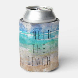 Porta-lata Eu preciso a praia posso refrigerador