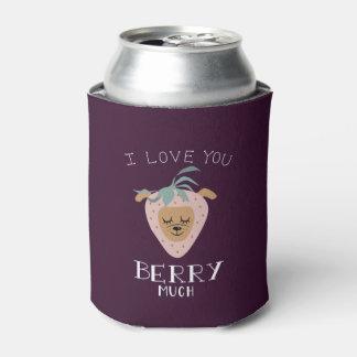 """Porta-lata """"Eu te amo BAGA muita"""" chalaça do cão da morango"""