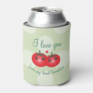Porta-lata Eu te amo de minha chalaça engraçada da fruta dos