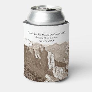 Porta-lata Favor do casamento da escalada da montanha