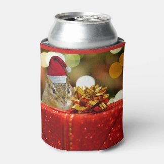 Porta-lata Feliz Natal bonito do Chipmunk