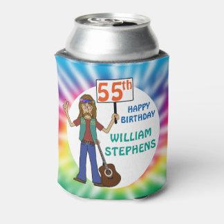 Porta-lata Festa de aniversário idosa da tintura 55th do laço