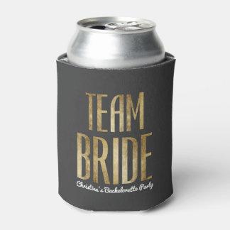 Porta-lata Festa de solteira chique da noiva da equipe do