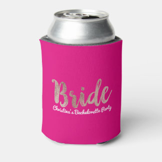 Porta-lata Festa de solteira cor-de-rosa da noiva do rosa