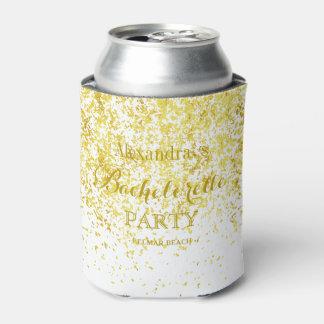 Porta-lata Festa de solteira elegante do casamento do brilho