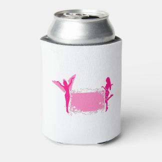 Porta-lata Festa de solteira feminino cor-de-rosa