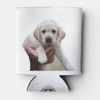 Porta-lata Filhote de cachorro amarelo do laboratório que