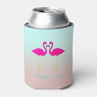 Porta-lata Flamingos cor-de-rosa adoráveis no