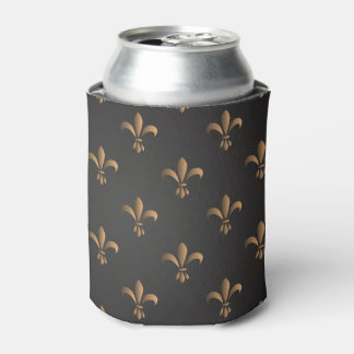 Porta-lata Flor de lis, vintage, elegante, chic.classy, teste