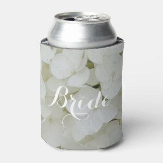 Porta-lata Floral elegante da flor das flores brancas do