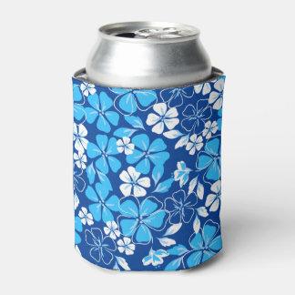 Porta-lata Flores azuis & brancas