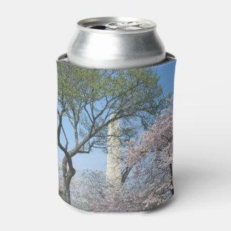 Porta-lata Flores de cerejeira e o monumento de Washington na
