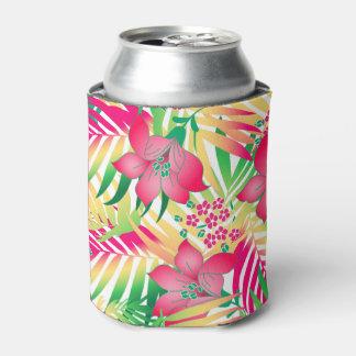 Porta-lata Flores tropicais coloridas