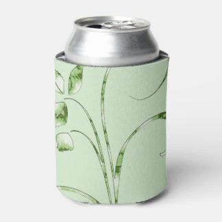 Porta-lata Folhas do verde no verde da hortelã