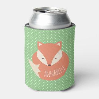 Porta-lata Fox bonito personalizado do sono