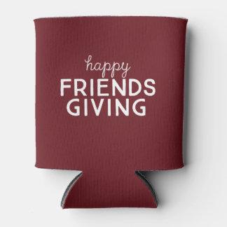 Porta-lata Friendsgiving feliz pode refrigerador