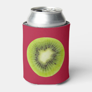 Porta-lata Fruta de quivi fresca. Close up redondo da fatia