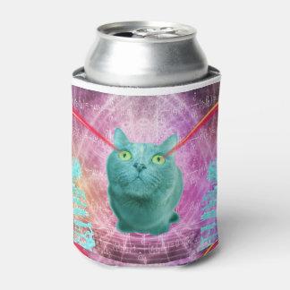 Porta-lata Gato com olhos do laser