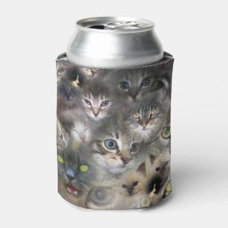 Porta-lata Gatos e gatinhos em uma colagem colorida do gato,