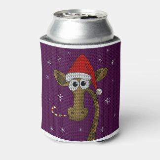 Porta-lata Girafa do Natal