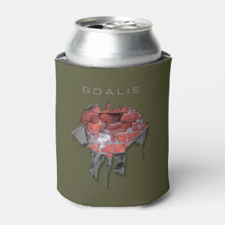 Porta-lata Goalie rasgado da parede de tijolo (hóquei)
