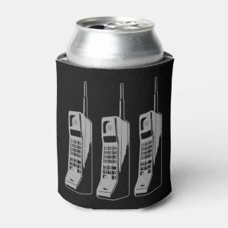 Porta-lata Gráfico retro do telefone móvel