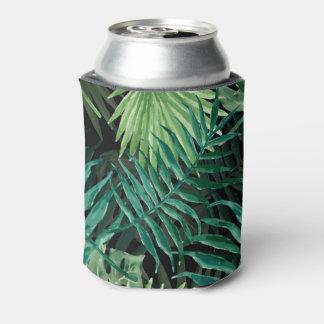 Porta-lata Grande palma de samambaia verde e plantas