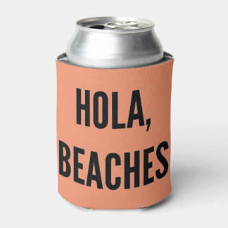Porta-lata Hola da festa de solteira da praia, praias!