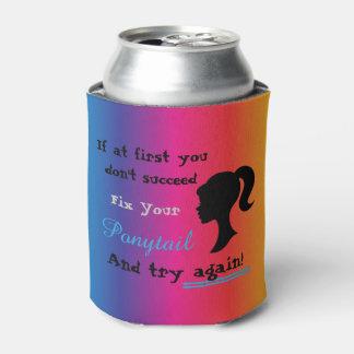 Porta-lata Humor - reparo do arco-íris seu do rabo de cavalo
